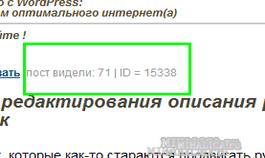 Как установить счётчик количества просмотров поста - в админке и на страничках - без плагина: тема - 1