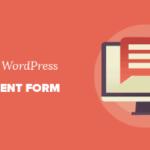 изменить форму комментария WordPress