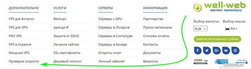 well-web проверка скорости сайта