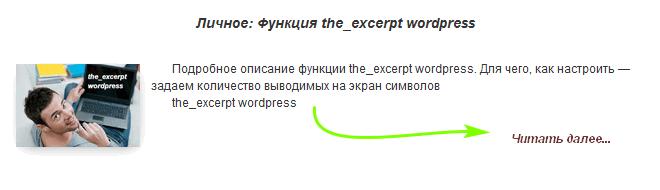 the_excerpt вордпресс